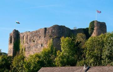 Haverfordwest Castle, 5 miles from Mountain Farm