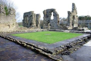 Haverfordwest Priory, 5 miles from Mountain Farm. Excavated remains of early thirteenth-century Augustinian priory with the only surviving ecclesiastical medieval garden in Britain.