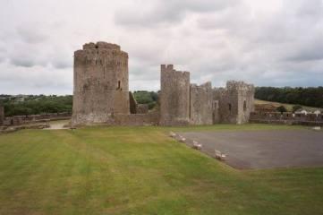 Pembroke Castle, 11 miles from Mountain Farm http://pembroke-castle.co.uk/
