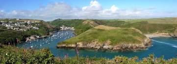 Solva, 13 miles from Mountain Farm. Great places to eat and beautiful coastal walks along the beach.