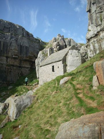 St Govan's Chapel, 18 miles from Mountain Farm http://www.pembrokeshirecoast.org.uk/website/AppAccess4All/stgovans_head.pdf